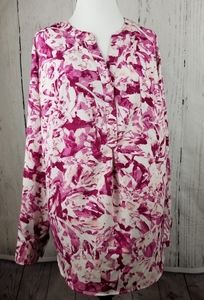 Pure Energy Pink Pull On Blouse Size 1X